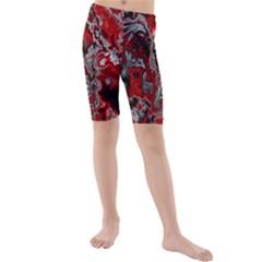 Fractal Marbled 07 Kid s swimwear