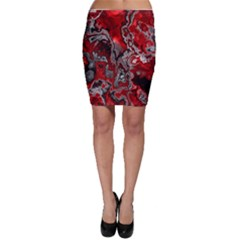 Fractal Marbled 07 Bodycon Skirts