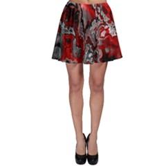 Fractal Marbled 07 Skater Skirts