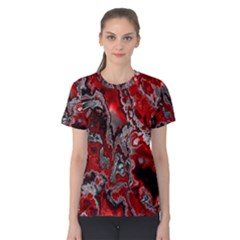 Fractal Marbled 07 Women s Cotton Tees