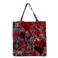 Fractal Marbled 07 Grocery Tote Bags