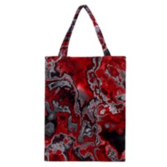 Fractal Marbled 07 Classic Tote Bags