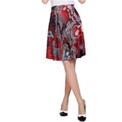 Fractal Marbled 07 A-Line Skirts