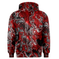 Fractal Marbled 07 Men s Zipper Hoodies