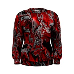 Fractal Marbled 07 Women s Sweatshirts