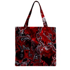 Fractal Marbled 07 Zipper Grocery Tote Bags
