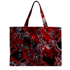 Fractal Marbled 07 Zipper Tiny Tote Bags