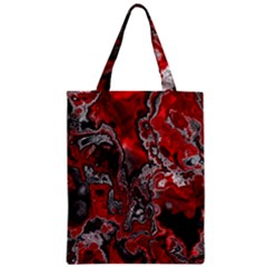 Fractal Marbled 07 Zipper Classic Tote Bags