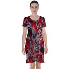 Fractal Marbled 07 Short Sleeve Nightdresses