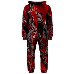 Fractal Marbled 07 Hooded Jumpsuit (Ladies)