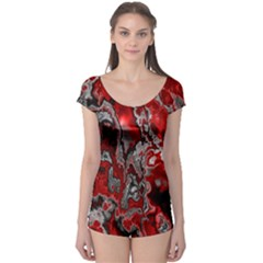 Fractal Marbled 07 Short Sleeve Leotard