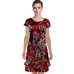 Fractal Marbled 07 Cap Sleeve Nightdresses