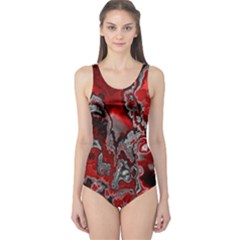 Fractal Marbled 07 Women s One Piece Swimsuits