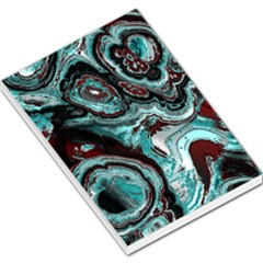 Fractal Marbled 05 Large Memo Pads