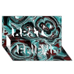 Fractal Marbled 05 Best Friends 3d Greeting Card (8x4)