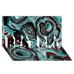 Fractal Marbled 05 BEST BRO 3D Greeting Card (8x4)