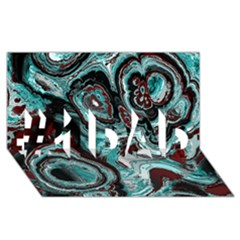 Fractal Marbled 05 #1 DAD 3D Greeting Card (8x4)