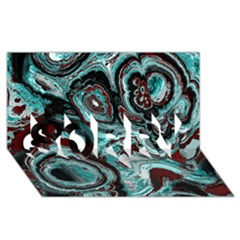 Fractal Marbled 05 SORRY 3D Greeting Card (8x4)
