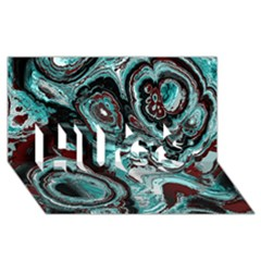Fractal Marbled 05 HUGS 3D Greeting Card (8x4)