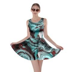 Fractal Marbled 05 Skater Dresses
