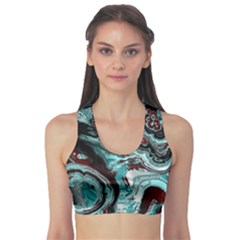 Fractal Marbled 05 Sports Bra