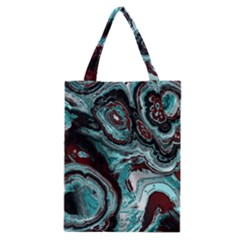 Fractal Marbled 05 Classic Tote Bags