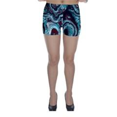 Fractal Marbled 05 Skinny Shorts