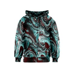 Fractal Marbled 05 Kids Zipper Hoodies