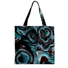 Fractal Marbled 05 Zipper Grocery Tote Bags
