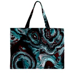 Fractal Marbled 05 Zipper Tiny Tote Bags