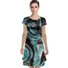 Fractal Marbled 05 Cap Sleeve Nightdresses