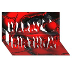 Abstract Art 11 Happy Birthday 3D Greeting Card (8x4)
