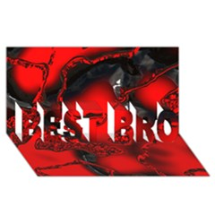 Abstract Art 11 BEST BRO 3D Greeting Card (8x4)
