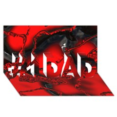 Abstract Art 11 #1 DAD 3D Greeting Card (8x4)
