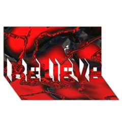 Abstract Art 11 Believe 3d Greeting Card (8x4)