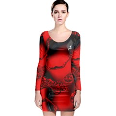 Abstract Art 11 Long Sleeve Bodycon Dresses