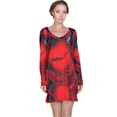 Abstract Art 11 Long Sleeve Nightdresses