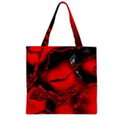 Abstract Art 11 Zipper Grocery Tote Bags