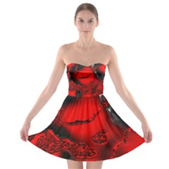 Abstract Art 11 Strapless Bra Top Dress