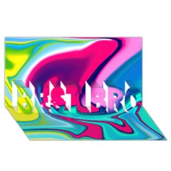Fluid Art 22 BEST BRO 3D Greeting Card (8x4)