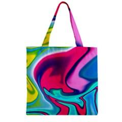 Fluid Art 22 Zipper Grocery Tote Bags
