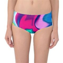 Fluid Art 22 Mid-Waist Bikini Bottoms