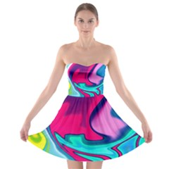 Fluid Art 22 Strapless Bra Top Dress