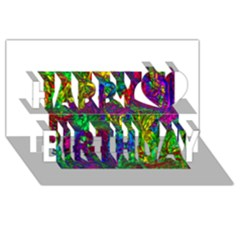 Liquid Plastic Happy Birthday 3D Greeting Card (8x4)
