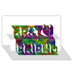 Liquid Plastic Best Friends 3d Greeting Card (8x4)