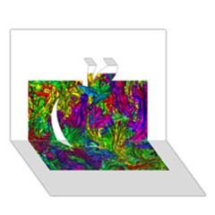 Liquid Plastic Apple 3D Greeting Card (7x5)