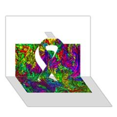 Liquid Plastic Ribbon 3d Greeting Card (7x5)