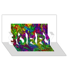 Liquid Plastic SORRY 3D Greeting Card (8x4)