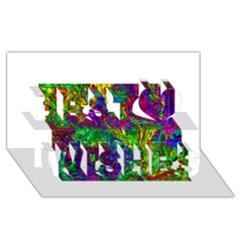 Liquid Plastic Best Wish 3d Greeting Card (8x4)