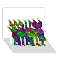 Liquid Plastic You Did It 3d Greeting Card (7x5)